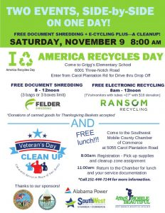 Nov 9 19 Recycle and Clean up